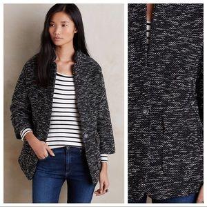 Anthropologie Elevenses Minka Tweed Jacket